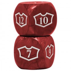 Ultra Pro Magic: The Gathering Oversized Loyalty Dice (4) - Mountain in Sleeves & Accessories