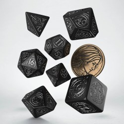 Комплект D&D зарове: Q-Workshop The Witcher Yennefer - The Obsidian Star (Black & Silver) в D&D и други RPG / D&D Зарове