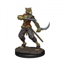 Dungeons & Dragons Fantasy Miniatures: Icons of the Realms Premium Figures - Male Tabaxi Rogue in D&D Miniatures