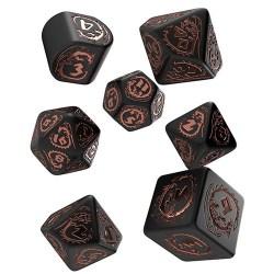 D&D Dice Set: Q-Workshop Modern Dragons Dice Set (Black & Copper) в D&D и други RPG / D&D Зарове