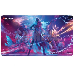 """Ultra Pro Magic the Gathering Playmat: Strixhaven - Prismari Command (24""""x13.5"""") in Sleeves & Accessories"""