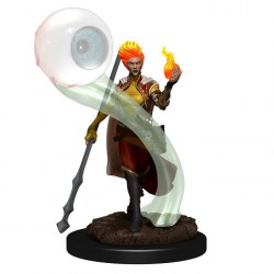 Dungeons & Dragons Fantasy Miniatures: Icons of the Realms Premium Figures - Female Fire Genasi Wizard in D&D Miniatures
