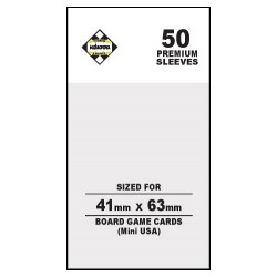 Clear 41x63mm Kaissa Premium Mini American Board Game Standard Card Sleeves (50 premium clear sleeves) in Mini American Board Game Size (41x63мм, 43x65мм)