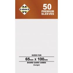 Протектори за карти 65x100 мм Kaissa Premium 7 Wonders Sleeves (50 броя, за настолни игри, прозрачни, плътни) в 7 Wonders, Coup (65x100 мм)