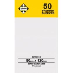 Протектори за карти 80x120 мм Dixit Kaissa Premium Sleeves (50 броя, за настолни игри, прозрачни, плътни) в Dixit Size (80x120 мм)