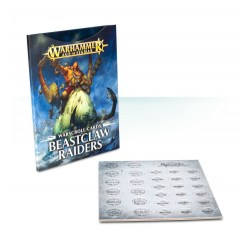 Age of Sigmar Warscroll Cards: Beastclaw Raiders in WH AoS Accessories