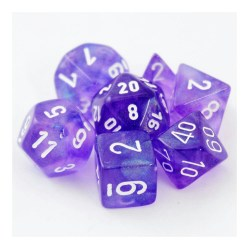 Polyhedral 7-Die Set: Chessex Borealis Purple & White in Dice sets