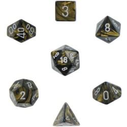 Комплект D&D зарове: Chessex Leaf Black Gold & Silver в Зарове за игри