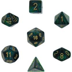 Комплект D&D зарове: Chessex Scarab Jade & Gold в Зарове за игри