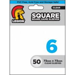 Протектори за карти Legion Supplies Board Game Sleeve 6 - Square за 73x73мм карти (50 броя плътни, прозрачни) в Други размери