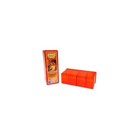 Dragon Shield Four Compartment box (orange) in Deck boxes
