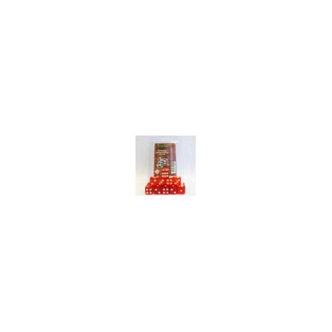 Комплект Шестстенни Зарове: Blackfire Transparent Red (15 зара)