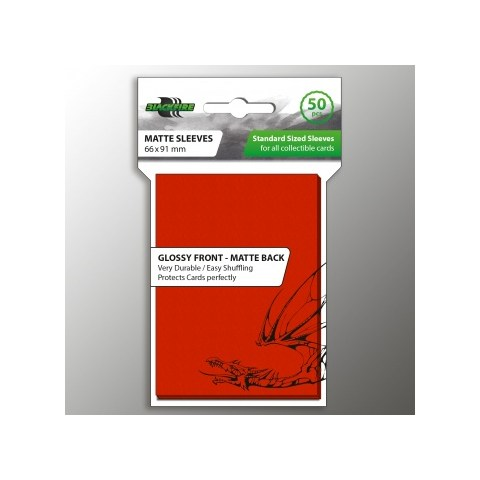 Протектори за карти 63.5x88мм Blackfire Standard Sleeves - Red Sleeves (50 броя, червени) в LCG, 63.5x88 мм)