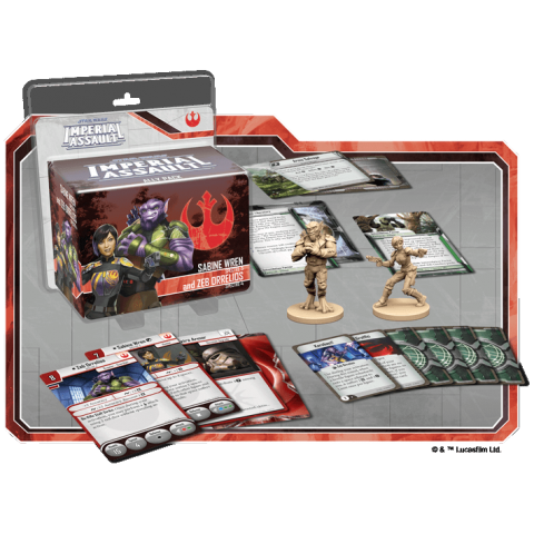 Star Wars: Imperial Assault: Sabine Wren and Zeb Orrelios Ally Pack