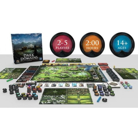 Dark Domains (2019)  + KS-Exclusive Elemental Arcana Fortune Cards Board Game
