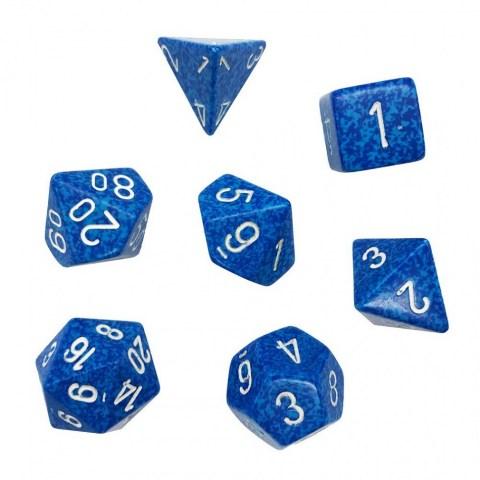 Polyhedral 7-Die Set: Chessex Speckled Water