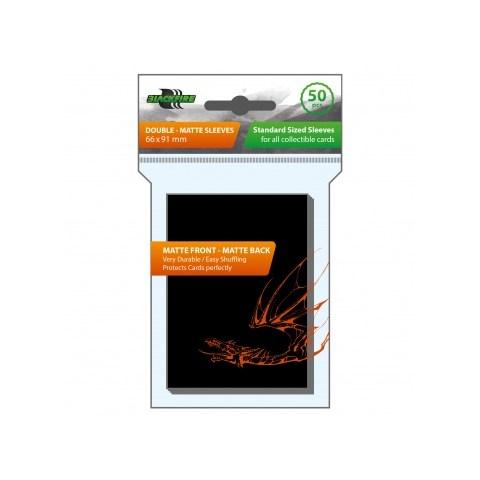 Протектори за карти 63.5x88мм Blackfire Sleeves - Standard Double-Matte Black Sleeves (50, черни)