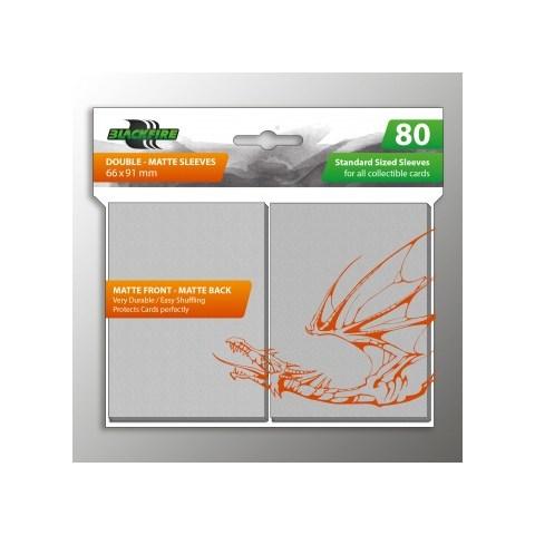 Протектори за карти 63.5x88мм Blackfire Sleeves - Standard Double-Matte Clear Sleeves (80 броя, матови, прозрачни)