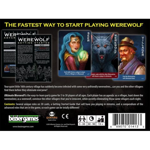 Ultimate Werewolf Revised Edition (2014) - игра с карти