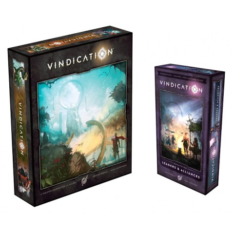 Vindication Board Game Kickstarter Edition Green Tier + Leaders & Alliances Expansion + Day 9 Retail Promo - настолна игра