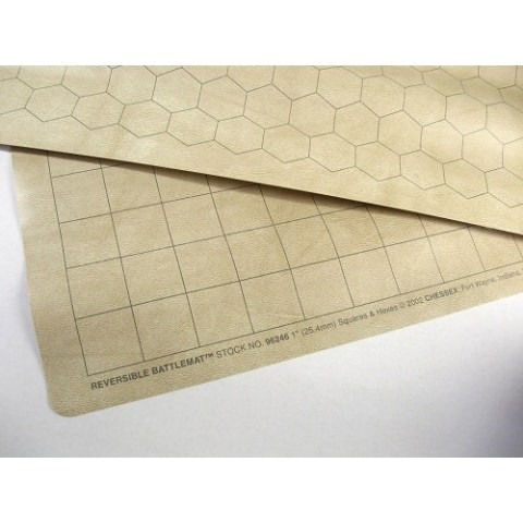Chessex Double-Sided Battlemat Square&Hex 60x66cm RPG Playmat (23.5x26-inch)