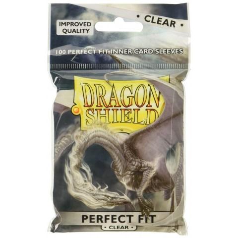 Dragon Shield Standard Sleeves - Perfect Fit Clear - 100 броя прозрачни протектори за стандартни TCG карти (pro-fit размер) в LCG, 63.5x88 мм)