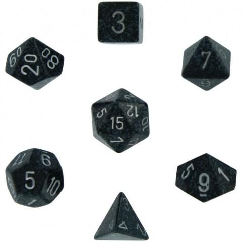 Polyhedral 7-Die Set: Chessex Speckled Ninja