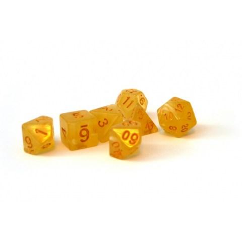Dice 4 Friends Polyhedral 7-Die Set: Tequila Sunrise