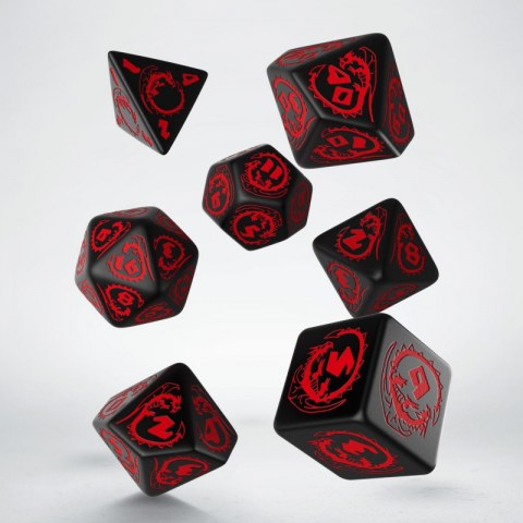 Комплект D&D зарове: Q-Workshop Dragons Dice Set (Red & Black) в Зарове за игри