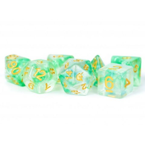 MDG Games: Unicorn Resin Polyhedral Dice Set - Icy Everglades