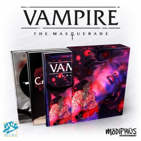 Vampire The Masquerade: 5th Edition Slipcase Set (Corebook, Camarilla and Anarch supplements+PDF)