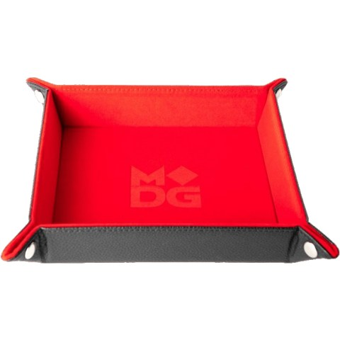 "Velvet Folding Dice Tray 10x10"" - Red"