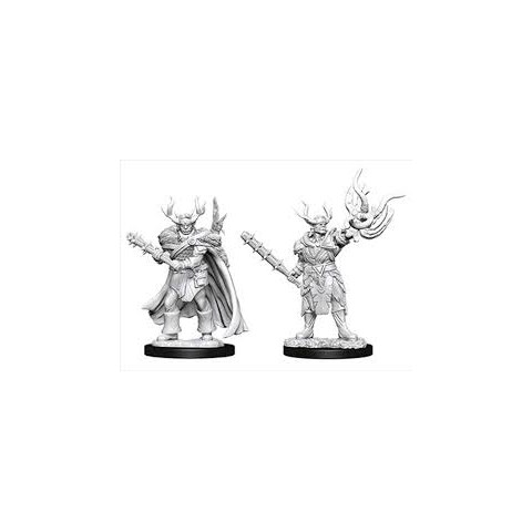 Pathfinder Battles Deep Cuts Unpainted Miniatures Wave 10 - Male Half-Orc Druid in D&D Miniatures
