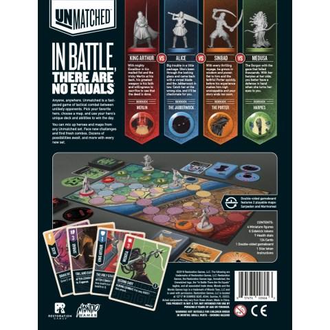 Unmatched: Battle of Legends, Volume One - King Arthur, Alice, Medusa, Sindbad (2019) - настолна игра