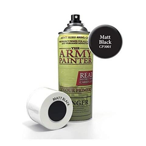 Army Painter - Matt Black Colour Primer Spray в Четки, бои и аксесоари