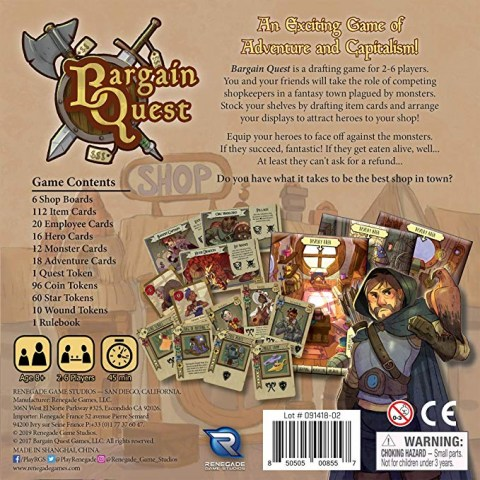 Bargain Quest ‐ English Second Edition (2019) - настолна игра