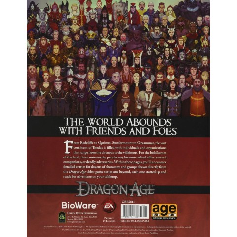 Dragon Age RPG: Faces of Thedas Sourcebook (Hard Cover)