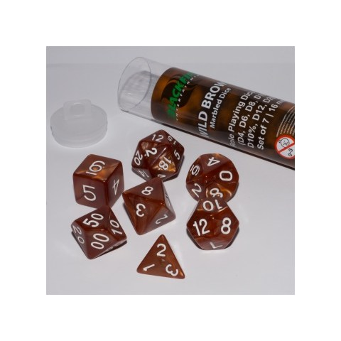 Blackfire Dice - 16mm Role Playing Dice Set - Wild Brown