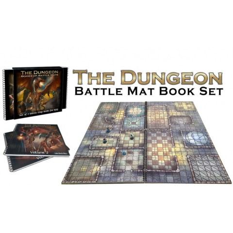 """Loke Battle Mats: The Dungeon Books of Battle Mats (2x 12x12"""" books, 40 pages each)"""