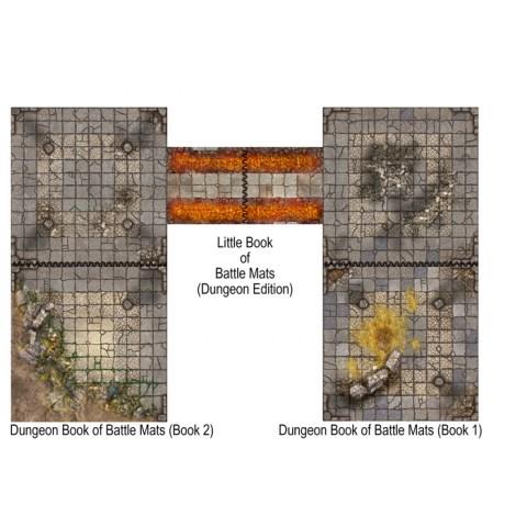 """Loke Battle Mats: The Little Book of Battle Mats - Dungeon Edition (6x6"""", 40 pages)"""