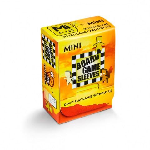 Матови 41x63 мм Arcane Tinmen Premium Mini American Sleeves протектори за карти (50 броя, за настолни игри, прозрачни, плътни) в Chimera Size (41x63, 43x65 мм)