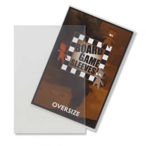 Матови 82x124 мм Arcane Tinmen Premium Oversized Card Sleeves протектори за карти (50 броя, за настолни игри, прозрачни, плътни)