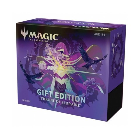 MTG: Throne of Eldraine Holiday Gift Bundle (1 collector's pack + 10 booster packs) Board Game
