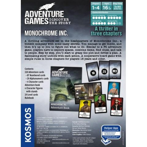 Adventure Games: Monochrome Inc. (2019) - настолна игра