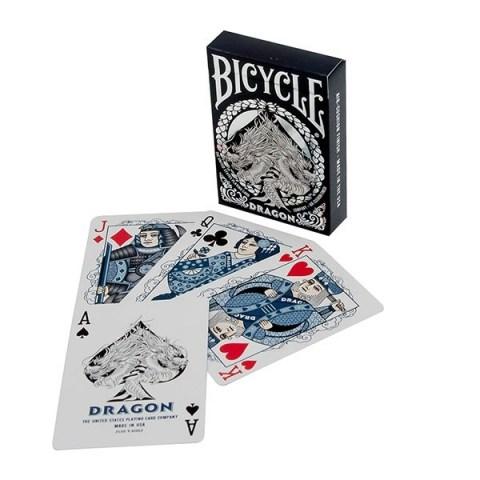Bicycle MIDNIGHT BLUE Dragon Playing Card Deck в Карти за игра