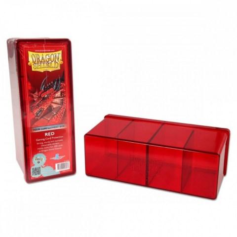 Dragon Shield Four Compartment box (червена) - кутия за карти в Кутии за карти