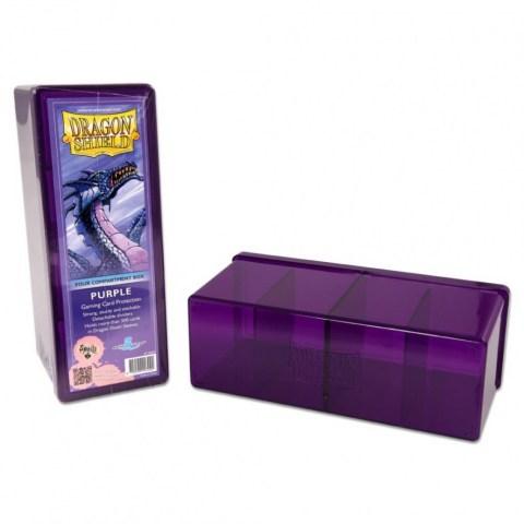 Dragon Shield Four Compartment box (purple) in Deck boxes