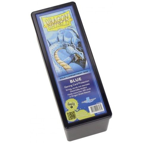 Dragon Shield Four Compartment box (Blue) in Deck boxes