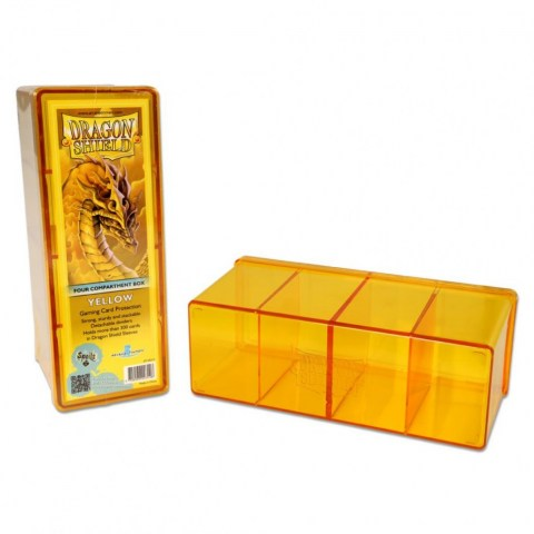 Dragon Shield Four Compartment box (yellow) in Deck boxes