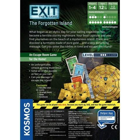 "Exit: The Game - The Forgotten Island (2017) - ""escape room"" настолна игра"